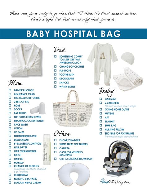 what to bring to the hospital for c section baby hospital bag checklist house mix