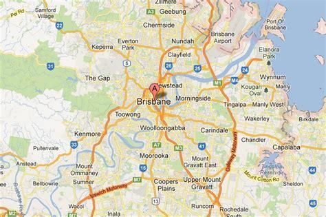 brisbane australia map map of brisbane brisbane on map australia