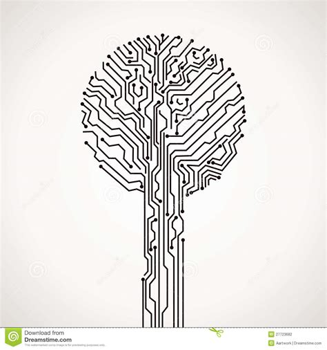 Electronic Tree - abstract electronic tree stock photography image 27723682