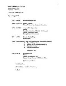free family reunion planner templates family reunion planners family reunion banquet program
