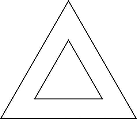 two triangle 2 concentric equilateral triangles clipart etc