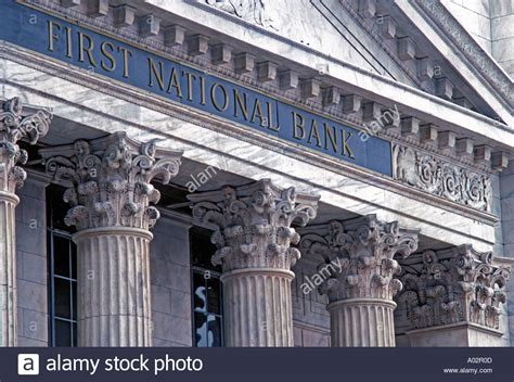 national bank national bank granite sign usa stock photo royalty
