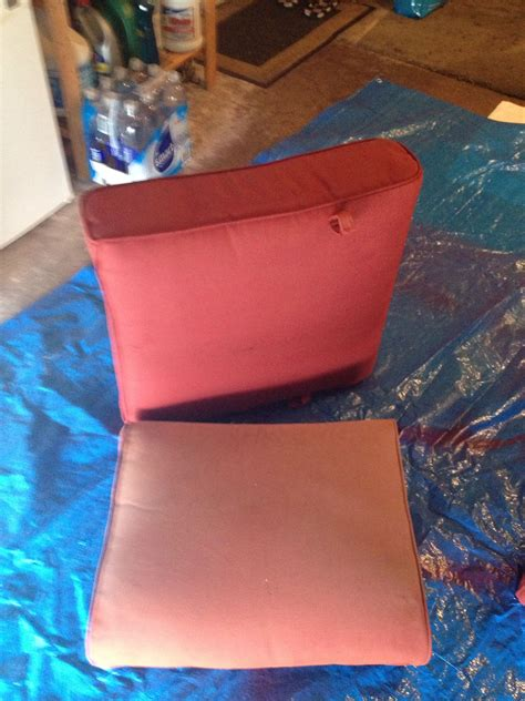 spray painting outdoor cushions spray painted my outdoor cushions with krylon fusion paint