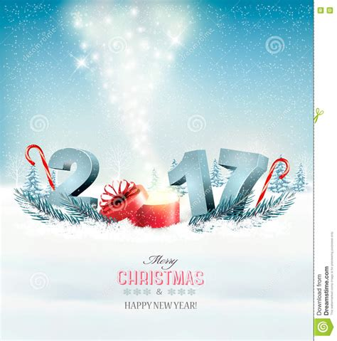 happy new year from design happy new year 2017 new year design template stock vector