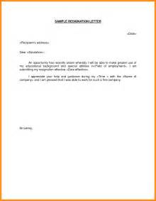 Resignation Letter Sle Better Opportunity 8 Resignation Letter Format For Better Opportunity Mystock Clerk