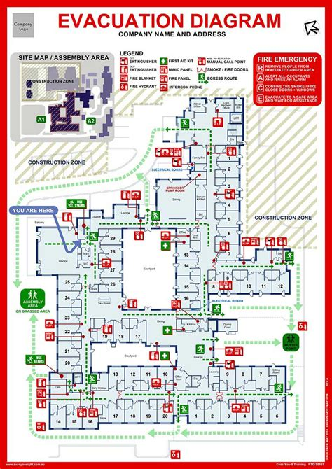 fire and evacuation diagram emergency evacuation diagrams state one fire protection