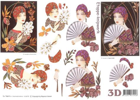 3d Decoupage Prints - deco 3d decoupage sheet