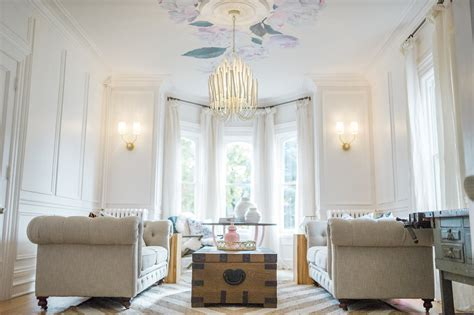 Living Room Wainscoting by Modern Parisian Living Room Reveal Wainscoting Paint