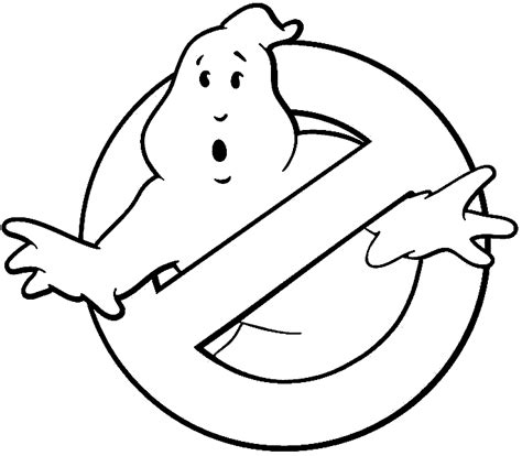 ghostbusters logo coloring pages ghostbuster sign printable pictures to pin on pinterest