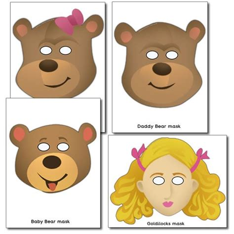 printable goldilocks mask 17 best images about goldilocks and the three bears on
