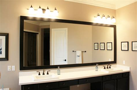 how to hang a framed bathroom mirror custom hanging mirrors that make your bathroom pop the