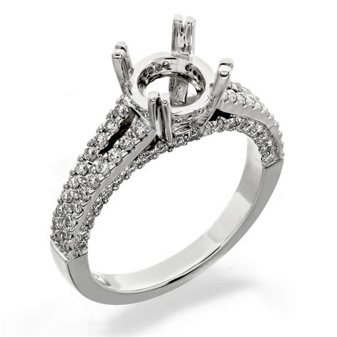 Side Accent Halo Ring 1216 r1216 jewelry manufacturer r s nazarian