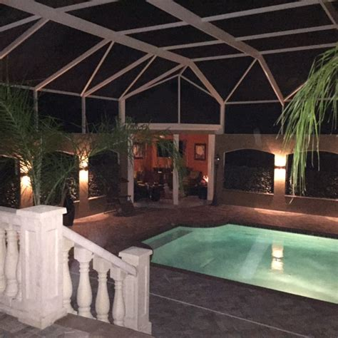 lighting around pool area up and down and all around ta outdoor lighting can do