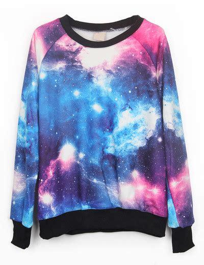 Batik Blus Vest Wk 26 33 colorful galaxy print jumper sweatshirt prettyguide