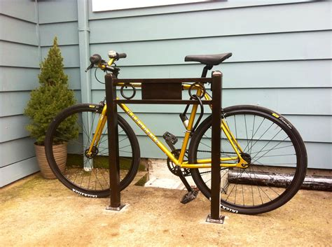 backyard bike rack bicycle storage ideas 9043