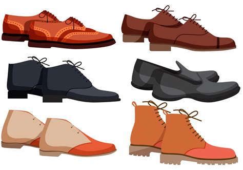 Sepatu Icon Wringkle High Brown Casual mens shoes vectors free vector stock