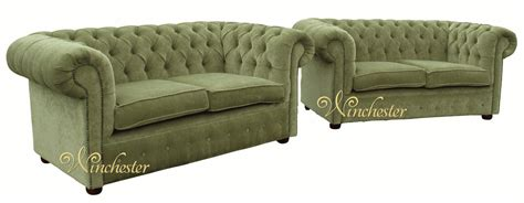 material chesterfield sofa chesterfield 2 2 seater sofa settee sage green fabric