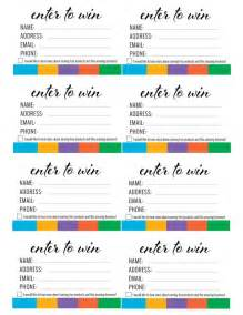Enter To Win Template by Rodan Fields Enter To Win Printable Itw Visions