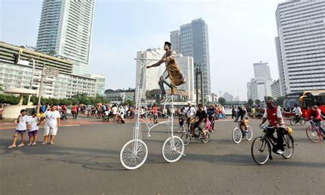 Jakarta Car Free Day akhir pekan di car free day jakarta anything jakarta