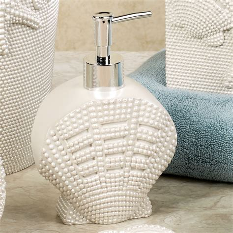 coastal bathroom accessories shells coastal bath accessories