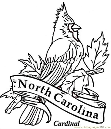 free state of north carolina coloring pages