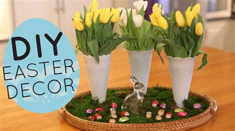 home decor centerpieces diy spring and easter centerpiece display home decor idea youtube