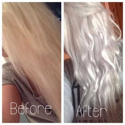 silver blonde color hair toner silver grey hair using wella t18 toner on box dyed blonde