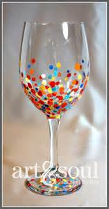 Painted wine glass dots