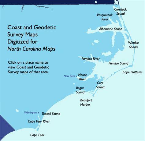 map of carolina coast carolina maps coast and geodetic survey maps