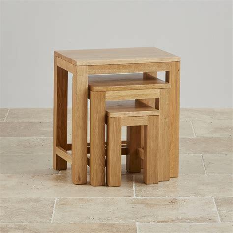 oak nest of tables oakdale nest of tables in natural solid oak oak