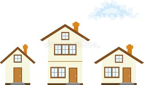 three homes three houses stock illustration illustration of