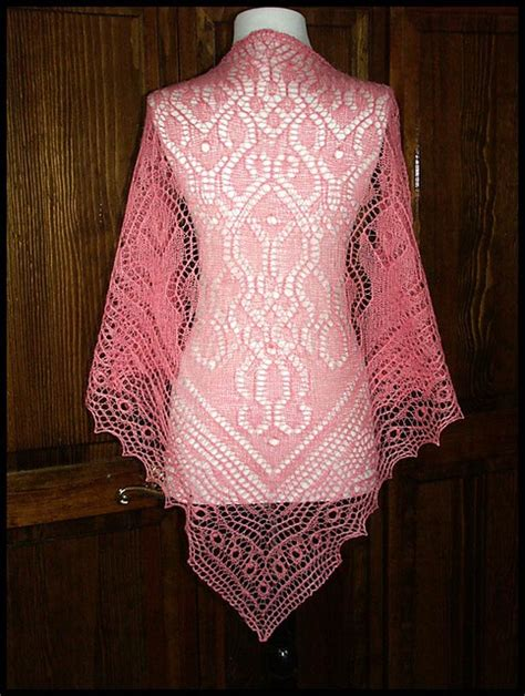 pattern crochet lace shawl quot fancy fulness quot knit lace shawl in wool silk lace weight