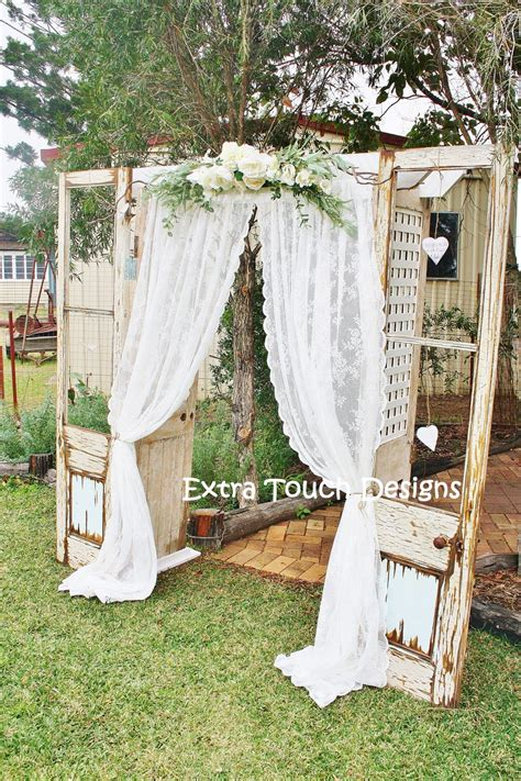 Wedding Arch Curtains by Vintage Wedding Ceremony Arch Doors Lace Curtain