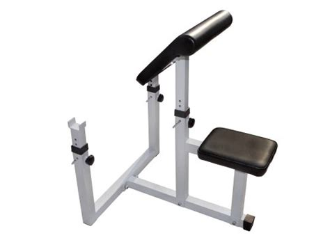 white weight bench adjustable preacher curl weight bench seated isolated curl
