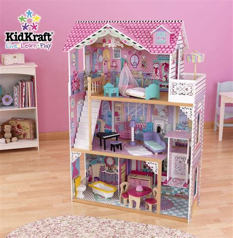 dollhouse play kidkraft annabelle barbiehuis het houten poppenhuis
