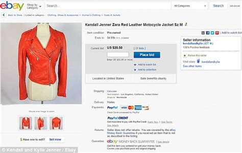design clothes and sell them kendall jenner is selling her old clothes on ebay to raise