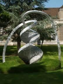 Garden Sculpture Art - cambridge england clare college dna double helix sculpture