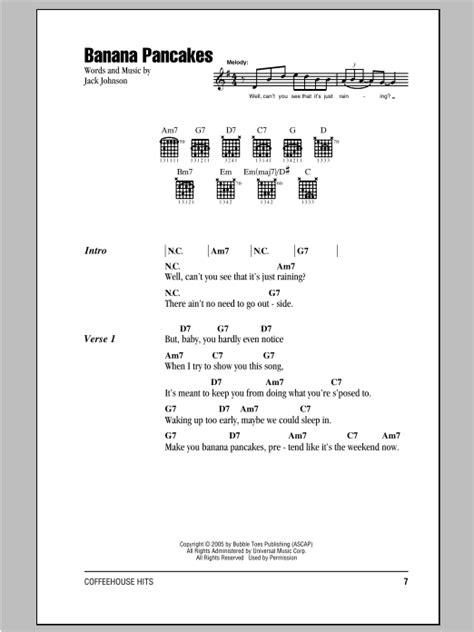 ukulele tutorial jack johnson banana pancakes sheet music direct