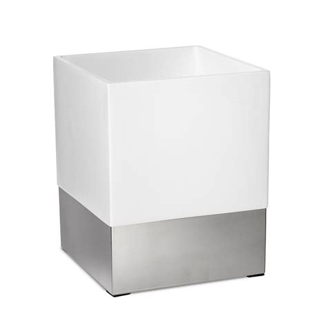 Roselli Trading Company Suites 10 In Wastebasket In Resin Modern Bathroom Wastebasket