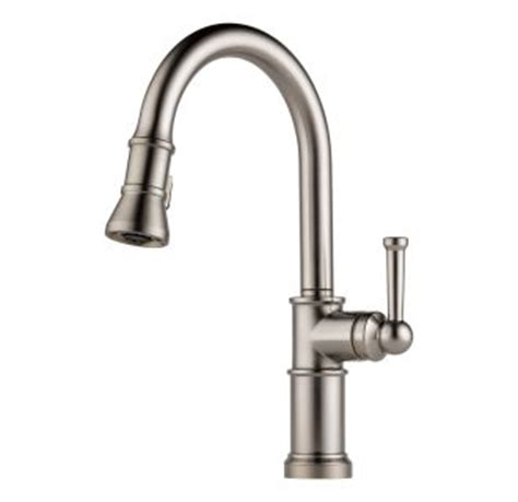 magnetic kitchen faucet faucet com 63225lf ss in brilliance stainless by brizo
