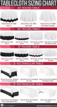 what size tablecloth for 6ft rectangular table 25 best ideas about tablecloth sizes on