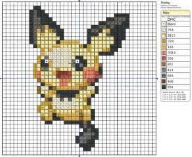 pichu pokemon pixel art grid images pokemon images
