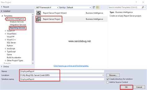 Create Ssrs Report Template Getting Started With Ssrs 2016 Part One