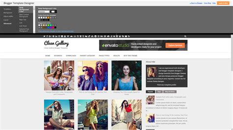 clean gallery blogger template newbloggerthemes com