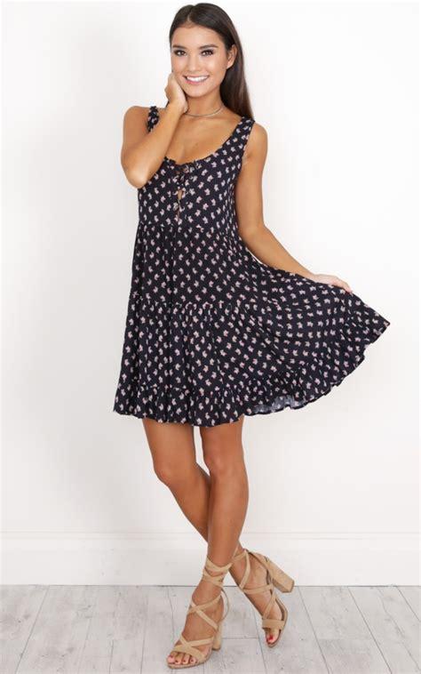 Dress Toscana toscana dress in navy floral showpo
