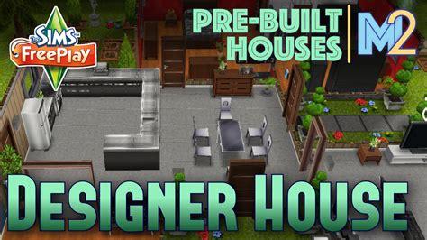 sims freeplay designer house  premium ocean lot review walkthrough youtube