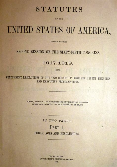 The Volstead Act Document