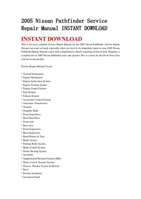 service repair manual free download 1994 nissan pathfinder lane departure warning 2005 nissan pathfinder service repair manual instant download