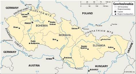 czechoslovakia map czechoslovakia historical nation europe britannica