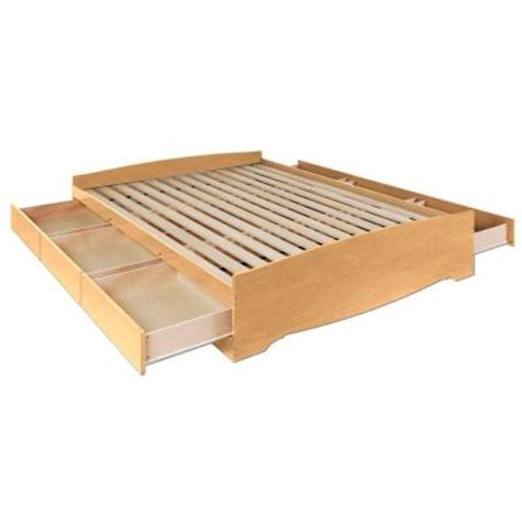 Bed In A Drawer by Prepac Sonoma 6 Drawer Platform Storage Bed In Maple